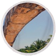 An Arch In Cozumela Round Beach Towel