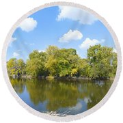 An Autumn Day Round Beach Towel