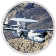 An E-2c Hawkeye Aircraft Flies Round Beach Towel