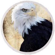 An Eagles Standpoint II Round Beach Towel
