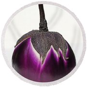 An Eggplant Jewel Round Beach Towel