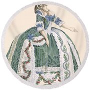 An Elaborate Royal Court Gown, Engraved Round Beach Towel