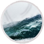 An Empty Wave Breaks Over A Shallow Reef Round Beach Towel