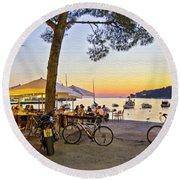 An Evening In Rovinj - Croatia Round Beach Towel