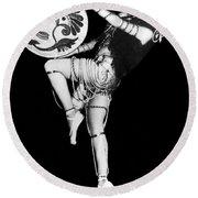An Exotic Russian Dancer Round Beach Towel by Underwood Archives