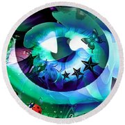 An Eye For Nature Round Beach Towel