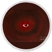 An Eye Is Upon You Round Beach Towel