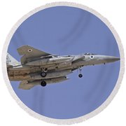An F-15a Baz Of The Israeli Air Force Round Beach Towel
