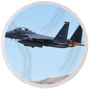 An F-15e Strike Eagle Taking Round Beach Towel