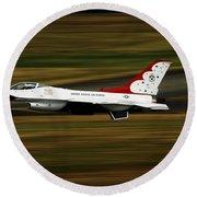An F-16 Thunderbird Of The U.s. Air Round Beach Towel