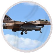 An F-16c Fighting Falcon From 64th Round Beach Towel