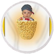 An Image Of A Photograph Of Your Child. - 03 Round Beach Towel