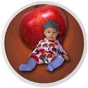 An Image Of A Photograph Of Your Child. - 04 Round Beach Towel