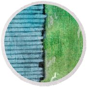 An Indirect Reflection Round Beach Towel