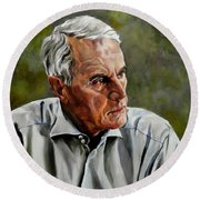 An Interesting Man - Viktor Hesse Round Beach Towel