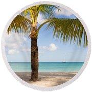 An Island View Round Beach Towel