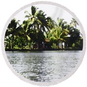 An Isolated Cottage On A Small Piece Of Land Round Beach Towel