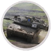 An Israel Defense Force Merkava Mark Iv Round Beach Towel