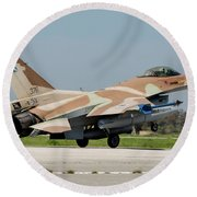 An Israeli Air Force F-16c Round Beach Towel