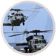 An Mh-60s Sea Hawk Approaches Round Beach Towel