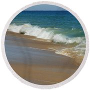 An Ocean View  Round Beach Towel