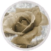 An Old Fashion Rose Round Beach Towel
