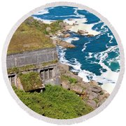 An Old  Hydroelectric Generating Station Round Beach Towel