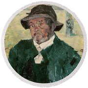 An Old Man, Celeyran, 1882 Oil On Canvas Round Beach Towel