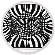 An Optical Illusion Round Beach Towel