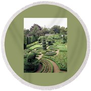 An Ornamental Garden Round Beach Towel
