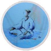 Ana Shiro Round Beach Towel
