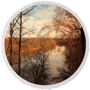 Anacostia River 6457 Round Beach Towel