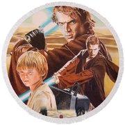 Anakin Skywaler Tatooine Round Beach Towel