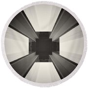 Analog Photography - Berlin Abstract Architecture Round Beach Towel