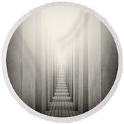 Analog Photography - Berlin Holocaust Memorial Round Beach Towel