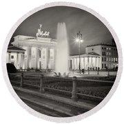 Analog Photography - Berlin Pariser Platz Round Beach Towel