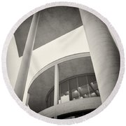 Analog Photography - Berlin Paul-loebe-haus Round Beach Towel