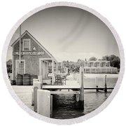Analog Photography - Martha's Vineyard Black Dog Wharf Round Beach Towel