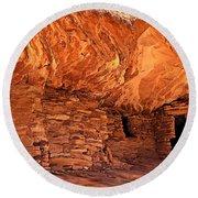 Anasazi  Cliff Dwelling Round Beach Towel