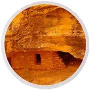 Anasazi Ruins  Round Beach Towel by Jeff Swan
