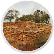 Anasazi Ruins Southern Utah Round Beach Towel
