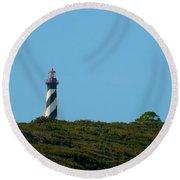 Anastasia Lighthouse Round Beach Towel