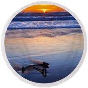 Anchor Ocean Beach Round Beach Towel