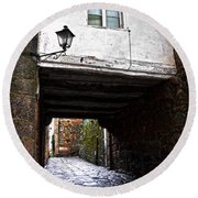 Ancient Alley In Tui Round Beach Towel