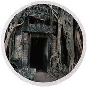 Ancient Angkor Cambodia Round Beach Towel