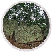 Ancient Boulders Round Beach Towel