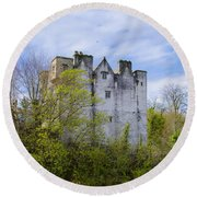 Ancient Castle Donegal Round Beach Towel