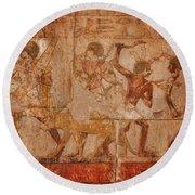 Ancient Egyptian Art Round Beach Towel