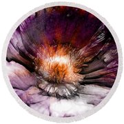 Ancient Flower 1 Round Beach Towel