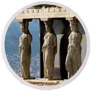 Ancient Greece Round Beach Towel